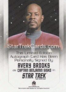 Star Trek 50th Anniversary Trading Card Autograph Avery Brooks Back