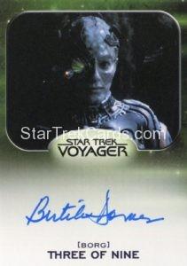 Star Trek 50th Anniversary Trading Card Autograph Bertila Damas Voyager