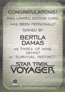 Star Trek 50th Anniversary Trading Card Autograph Bertila Damas Voyager Back