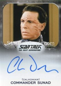 Star Trek 50th Anniversary Trading Card Autograph Charles Dennis