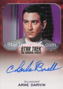 Star Trek 50th Anniversary Trading Card Autograph Charlie Brill