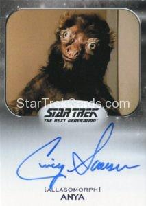 Star Trek 50th Anniversary Trading Card Autograph Cindy Sorenson