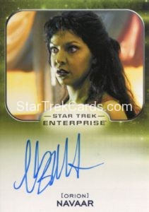 Star Trek 50th Anniversary Trading Card Autograph Cyia Batten