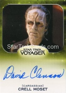 Star Trek 50th Anniversary Trading Card Autograph David Clennon