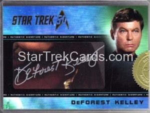 Star Trek 50th Anniversary Trading Card Autograph DeForest Kelley 2