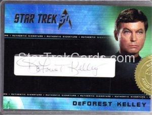 Star Trek 50th Anniversary Trading Card Autograph DeForest Kelley
