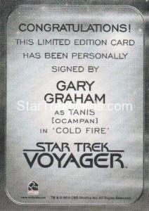 Star Trek 50th Anniversary Trading Card Autograph Gary Graham Back