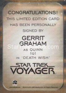 Star Trek 50th Anniversary Trading Card Autograph Gerrit Graham Back
