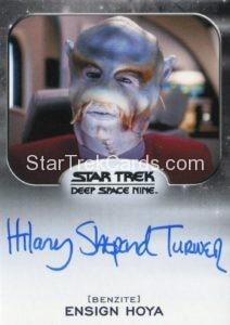 Star Trek 50th Anniversary Trading Card Autograph Hilary Shepard