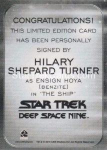 Star Trek 50th Anniversary Trading Card Autograph Hilary Shepard Turner