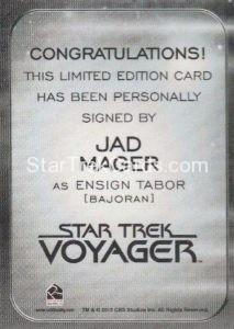 Star Trek 50th Anniversary Trading Card Autograph Jad Mager Back
