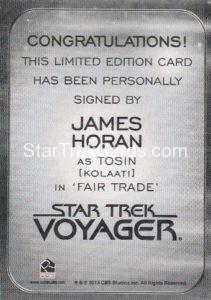 Star Trek 50th Anniversary Trading Card Autograph James Horan Back