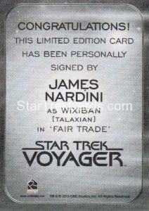 Star Trek 50th Anniversary Trading Card Autograph James Nardini Back