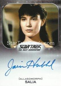 Star Trek 50th Anniversary Trading Card Autograph Jamie Hubbard