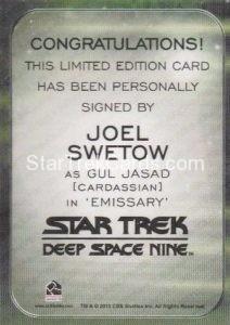 Star Trek 50th Anniversary Trading Card Autograph Joel Swetow DS9 Back