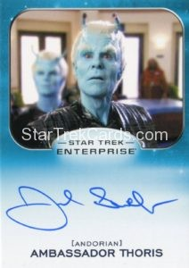 Star Trek 50th Anniversary Trading Card Autograph Joel Swetow Enterprise