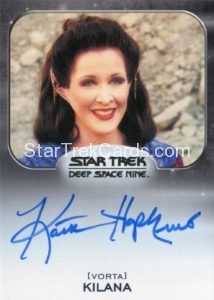 Star Trek 50th Anniversary Trading Card Autograph Kaitlin Hopkins
