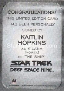 Star Trek 50th Anniversary Trading Card Autograph Kaitlin Hopkins Back