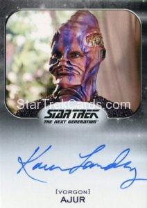 Star Trek 50th Anniversary Trading Card Autograph Karen Landry