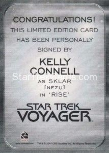 Star Trek 50th Anniversary Trading Card Autograph Kelly Connell Back