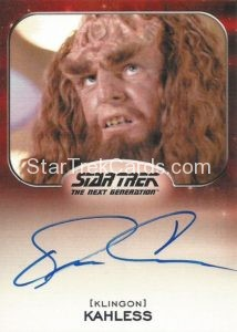 Star Trek 50th Anniversary Trading Card Autograph Kevin Conway