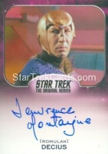 Star Trek 50th Anniversary Trading Card Autograph Lawrence Montaigne