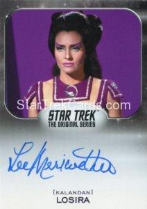 Star Trek 50th Anniversary Trading Card Autograph Lee Meriwether Blue Ink