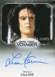Star Trek 50th Anniversary Trading Card Autograph Lisa Kaminir