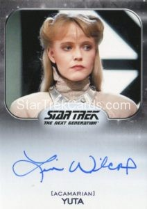 Star Trek 50th Anniversary Trading Card Autograph Lisa Wilcox