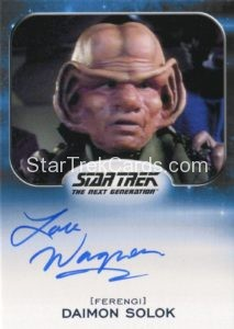 Star Trek 50th Anniversary Trading Card Autograph Lou Wagner