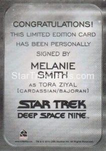 Star Trek 50th Anniversary Trading Card Autograph Melanie Smith Back