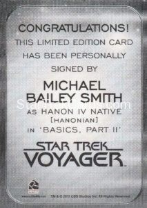 Star Trek 50th Anniversary Trading Card Autograph Michael Bailey Smith Back