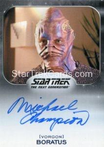 Star Trek 50th Anniversary Trading Card Autograph Michael Champion