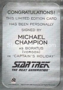 Star Trek 50th Anniversary Trading Card Autograph Michael Champion Back