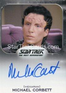 Star Trek 50th Anniversary Trading Card Autograph Michael Corbett