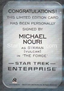 Star Trek 50th Anniversary Trading Card Autograph Michael Nouri Back