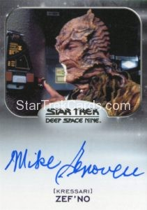 Star Trek 50th Anniversary Trading Card Autograph Mike Genovese