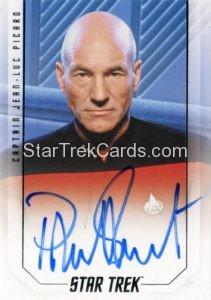 Star Trek 50th Anniversary Trading Card Autograph Patrick Stewart