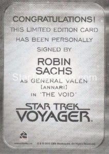 Star Trek 50th Anniversary Trading Card Autograph Robin Sachs Back