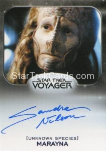 Star Trek 50th Anniversary Trading Card Autograph Sandra Nelson