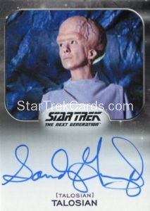 Star Trek 50th Anniversary Trading Card Autograph Sandy Gimpel