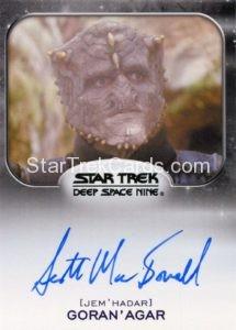 Star Trek 50th Anniversary Trading Card Autograph Scott MacDonald