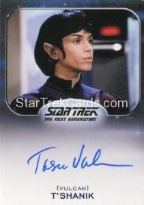 Star Trek 50th Anniversary Trading Card Autograph Tasia Valenza