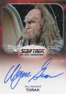 Star Trek 50th Anniversary Trading Card Autograph Wayne Grace