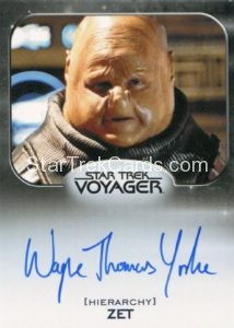 Star Trek 50th Anniversary Trading Card Autograph Wayne Thomas Yorke