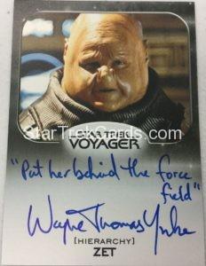 Star Trek 50th Anniversary Trading Card Autograph Wayne Thomas Yorke Variant