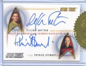 Star Trek 50th Anniversary Trading Card Autograph William Shatner Patrick Stewart