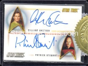 Star Trek 50th Anniversary Trading Card Autograph William Shatner Patrick Stewart Alternate
