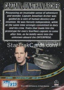 Star Trek 50th Anniversary Trading Card Captain Jonathan Archer Case Topper Back