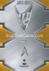 Star Trek 50th Anniversary Trading Card DRC1 Back